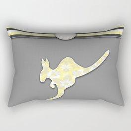 Yellow Kangaroo Stripes Animal Design Pattern Rectangular Pillow
