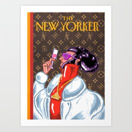 New Yorker Cover: Illuminati  Art Print