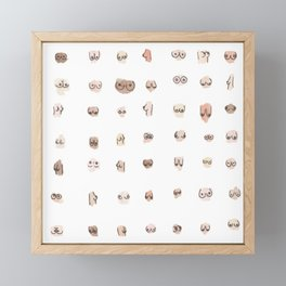 boobs Framed Mini Art Print