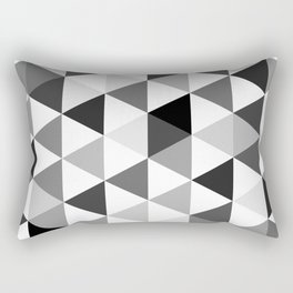 Black and white triangles Rectangular Pillow