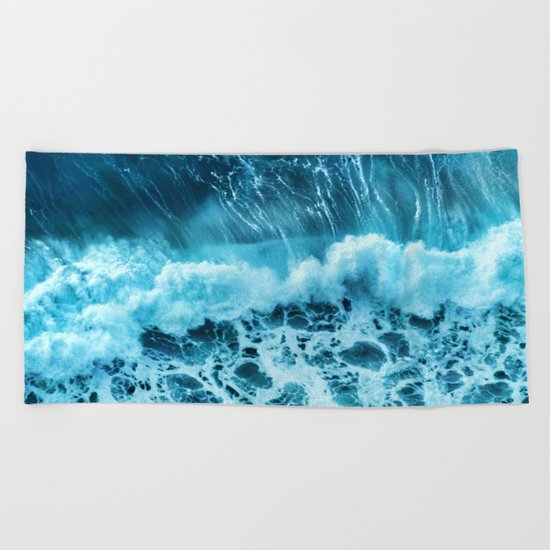 Sea wave Beach Towel