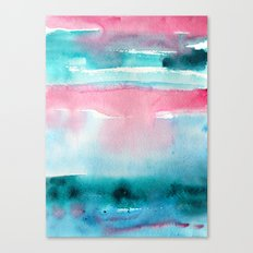 Turquoise love Canvas Print