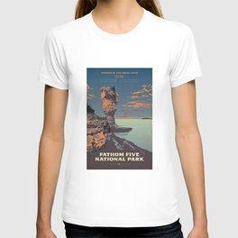 Fathom Five National Park Poster (Flowerpot Island) T-shirt