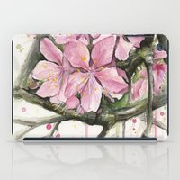 cherry blossom iPad Cases featuring Cherry Blossom by Olechka