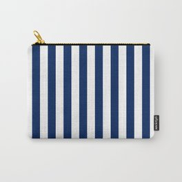 Navy and White Small Even Stripes Carry-All Pouch