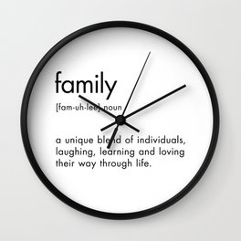 Family Definition Wall Clock