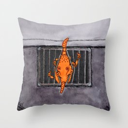 Breakout Octopus Throw Pillow