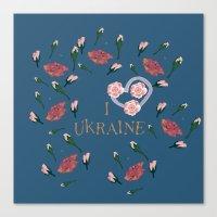 ukraine Canvas Prints featuring love UKRAINE by luiza13