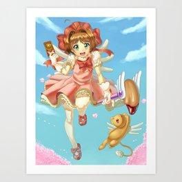 Sakura and Kero Art Print