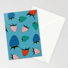 strawberry blue Stationery Cards