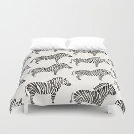 Zebras – Black & White Palette Duvet Cover