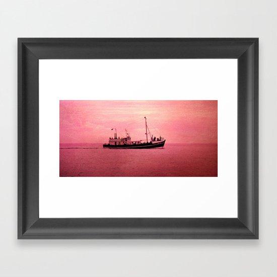 mer en rose Framed Art Print