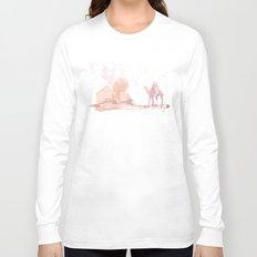 Watercolor landscape illustration_Egypt Long Sleeve T-shirt