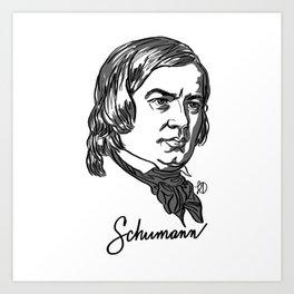 Robert Schumann composer portrait Art Print