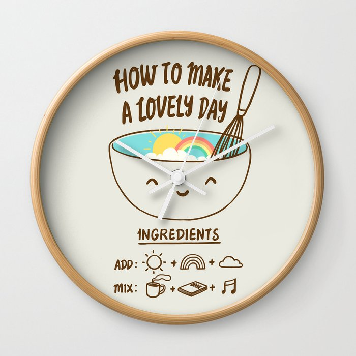How to make a lovely day Wall Clock