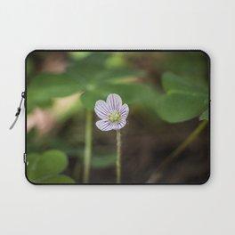 Wood Sorrel Flower Laptop Sleeve