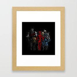 Violent Red Ninja Hero Framed Art Print
