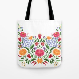 Hungarian folk pattern – Kalocsa embroidery flowers Tote Bag