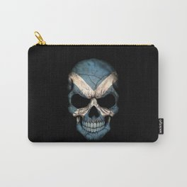 Dark Skull with Flag of Scotland Carry-All Pouch