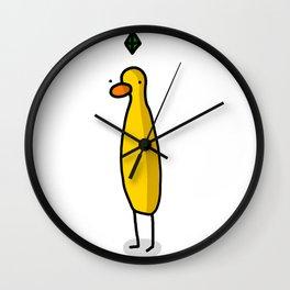 Plumbob Sim Duck | Veronica Nagorny Wall Clock