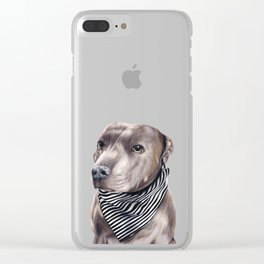 Blue Staffordshire Bull Terrier Clear iPhone Case