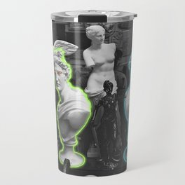 Greek statues *neon lights* Travel Mug