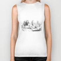 women Biker Tanks featuring Women by Alessia Pelonzi