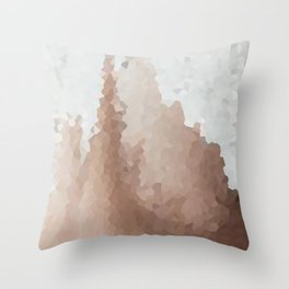 Cacao and Cream Throw Pillow