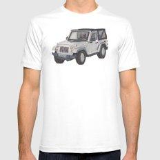 Jeep Wrangler 2012 Mens Fitted Tee White MEDIUM