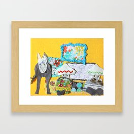 Dos Hombres Uno Burro Framed Art Print