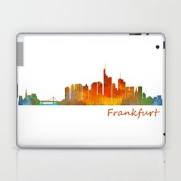 Frankfurt am Main, City Skyline, Citiscae art watercolor V1 Laptop & iPad Skin