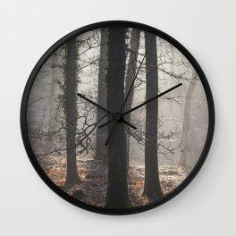 Winter Sunrays Wall Clock