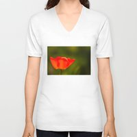 tulip V-neck T-shirts featuring Tulip by Bruce Stanfield