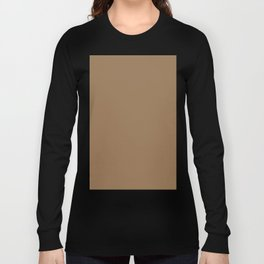 Pale Brown Long Sleeve T-shirt