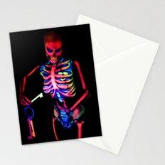 Black Light Skeleton  Stationery Cards