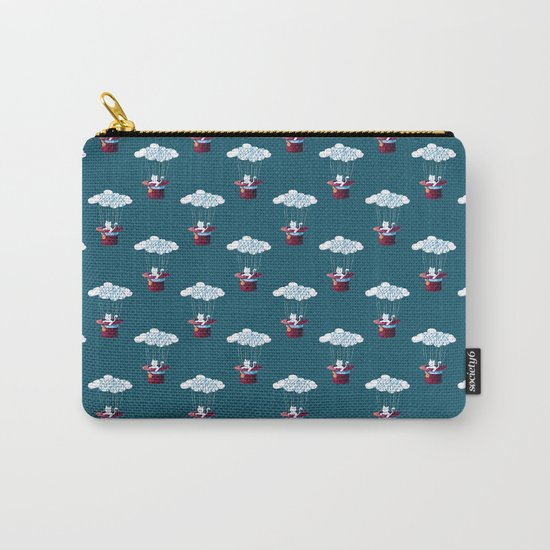 Traveler Cat Pattern Carry-All Pouch