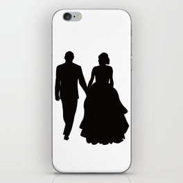 Wedding Couple Silhouette Design For Weddings iPhone Skin
