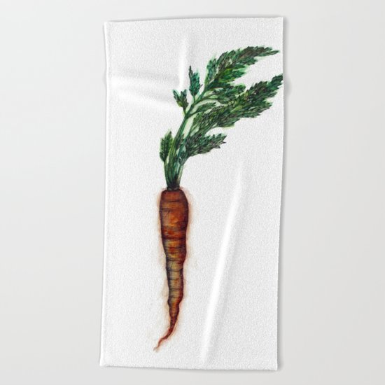 Rooted: The Carrot Beach Towel
