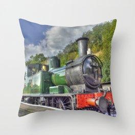 Steam Train at Bewdley Throw Pillow