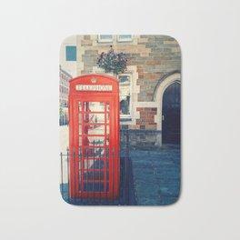Red phone booth Bath Mat