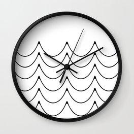 Wave minimalist art Wall Clock