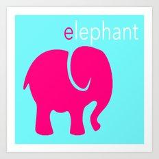 Pink Elephant Art Print