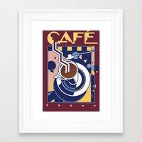 cafe Framed Art Prints featuring Cafe by David Chestnutt
