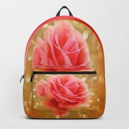 Elegant Golden Rose Glow Backpack