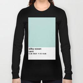 pantone colorblock cmyk blue Long Sleeve T-shirt