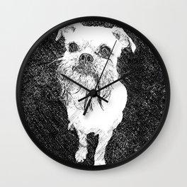 St: Simeon Griffon Bruxellois 10 Wall Clock