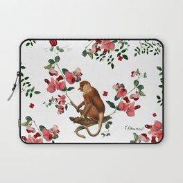 Monkey World: Nosy - White Laptop Sleeve