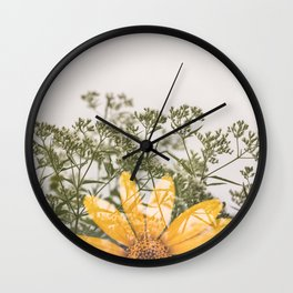 Flora in the Fall Wall Clock