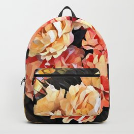 Peaches and Cream Floral Bouquet Backpack