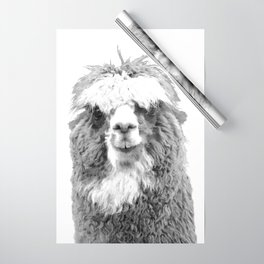 Black and White Alpaca Wrapping Paper